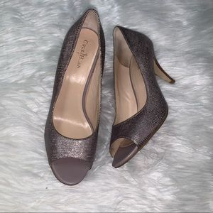 COLE HAAN Peep Toe Pumps With Nike Air